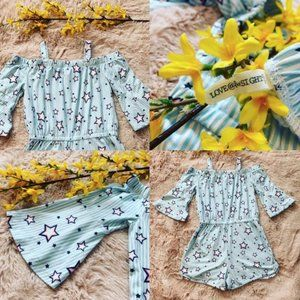 Love @ First Sight Youth Girl's Star Print Romper